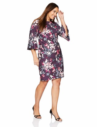 Calvin Klein Women's Size 3/4 Peplum Sleeve Sheath Dress