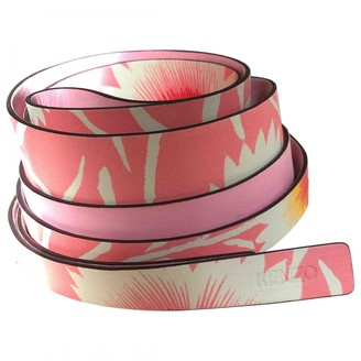Kenzo Pink Leather Belts