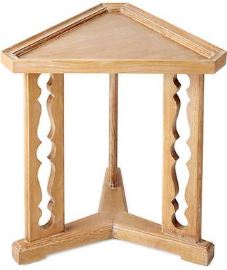 "Bunny Williams Home Porter 20"" Triangular Side Table - Oak cerused oak"
