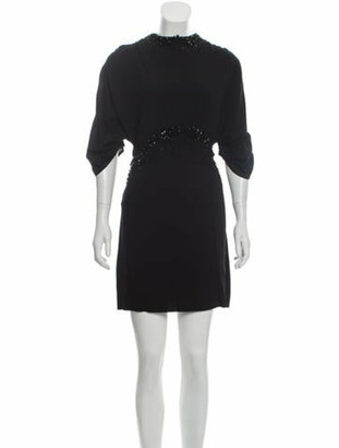 Prada Beaded Mini Dress Black