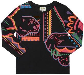 Kenzo Kids Tiger Cotton Jersey T-Shirt