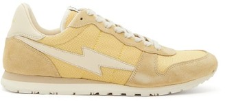 Isabel Marant Bustee Suede And Mesh Trainers - Womens - Yellow