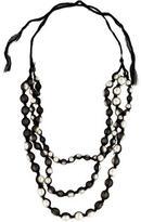 Lanvin Mesh Pearl Multistrand Necklace