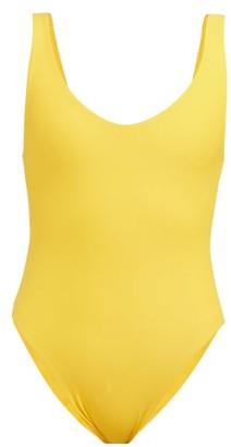 JADE SWIM Contour Scoop-back Swimsuit - Yellow