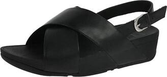 FitFlop Women's Lulu Cross Back-Strap Sandals-Leather