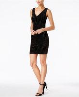 GUESS Embellished Velvet Sheath Dress