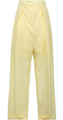 Nina Ricci Pleated Wool Wide-leg Pants