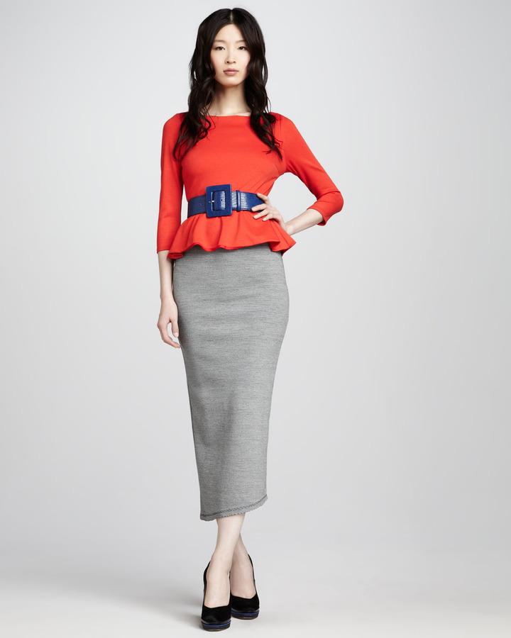 Alice + Olivia Darcey Striped Maxi Skirt
