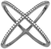 "Tiara 0.32 CT. T.W. Trend ""X"" Cubic Zirconia Ring In Sterling Silver"