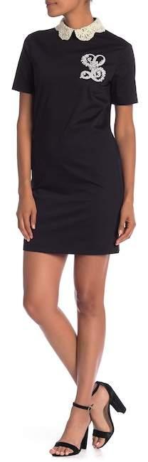 Love Moschino Crochet Collar Short Sleeve Dress