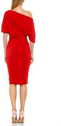Alexia Admor Olivia Draped Off-the-Shoulder Sheath Dress