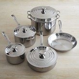 Le Creuset Stainless-Steel 10-Piece Cookware Set