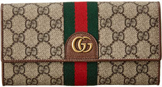 Gucci Three Little Pigs Gg Supreme Canvas Continental Wallet
