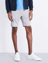 HUGO BOSS Piped-detail cotton-jersey shorts