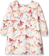Hatley Girl's Bow Front Dress, Off-White