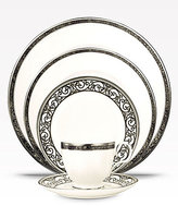 Noritake Meridian Verano Marbled Scroll Platinum China 5-Piece Place Setting