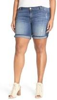 KUT from the Kloth 'Catherine' Denim Boyfriend Shorts (Plus Size)