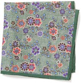 J.Mclaughlin Italian Linen Pocket Square in Spring Garden