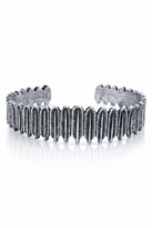 House Of Harlow Silver Small Feather Row Cuff