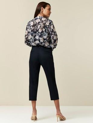 Wallis Petite Cotton Crop Trousers - Navy