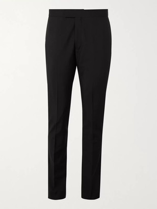Paul Smith Slim-Fit Satin-Trimmed Wool And Mohair-Blend Tuxedo Trousers