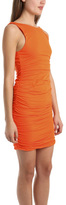 Coven S/L Ruched Mini Dress in Orange