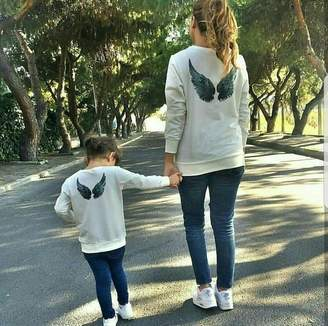 Angel Wings Sweatshirt Shirts Mother Son Daughter Matching Mommy and Me Sweatshirts Shirts Family Outfits