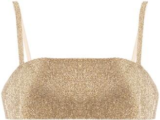 Nuè Charlotte rhinestone-embellished top
