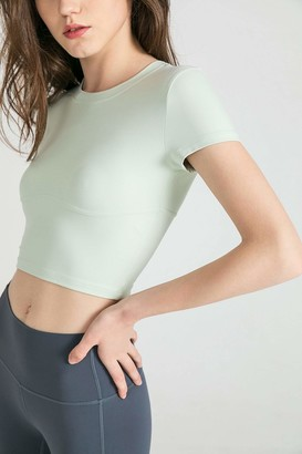 J.ING Minty Green Round Neck Performance Top