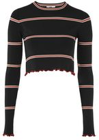 Unique **margot long sleeve crop top