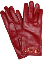 Gucci Horsebit leather gloves