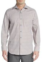 Saks Fifth Avenue Regular-Fit Checked Cotton Sportshirt