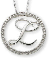 JCPenney FINE JEWELRY Personalized Diamond-Accent Circle Initial Pendant Necklace