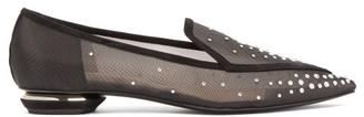 Nicholas Kirkwood Beya Crystal-embellished Mesh Loafers - Black