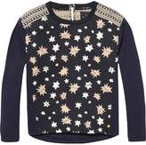 Scotch & Soda Star Print Woven Jersey Top