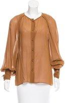 Martin Grant Long Sleeve Silk Blouse w/ Tags