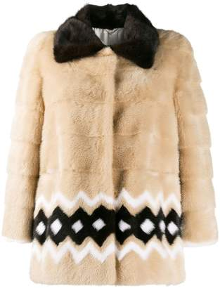 Simonetta Ravizza fur collar puffer jacket