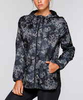 Lorna Jane Black & White No Distractions Hooded Track Jacket