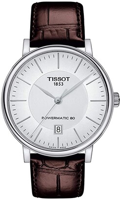 Tissot T-Classic Carson Premium Powermatic 80 - T1224071603100 (Silver) Watches