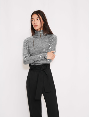 Maje Turtleneck t-shirt in stretch material