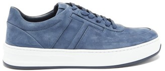 Tod's Cassetta Leather Trainers - Mens - Blue