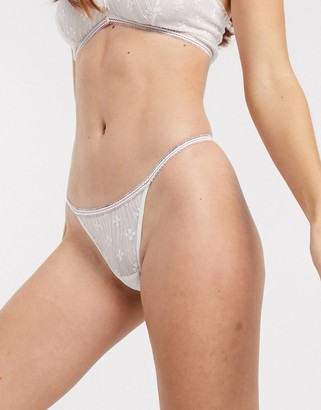 Free People gabriella thong in ivory