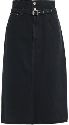 Rag & Bone Belted Denim Midi Skirt