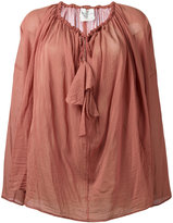 Forte Forte drawstring neck blouse - women - Silk/Cotton - 0