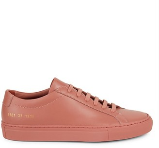 Woman By Common Projects Low-Top Leather Sneakers