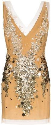 Faith Connexion Sequin Embellished Mesh Mini Dress