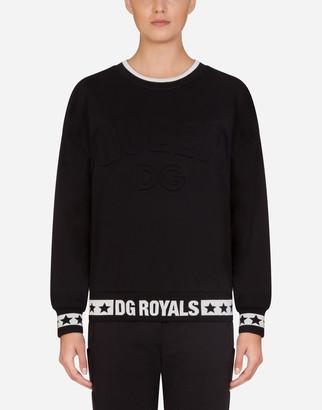 Dolce & Gabbana Millennials Star Jersey Crew Neck Sweatshirt
