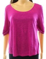 Lauren Ralph Lauren Womens Linen Cuffed T-Shirt