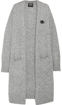 Markus Lupfer Embellished Wool-blend Cardigan - Light gray