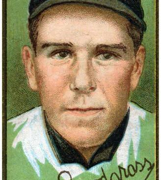 "Frederick Lantern Press ""New York Giants, C. Snodgrass, Baseball Card"" Print, 12""x18"